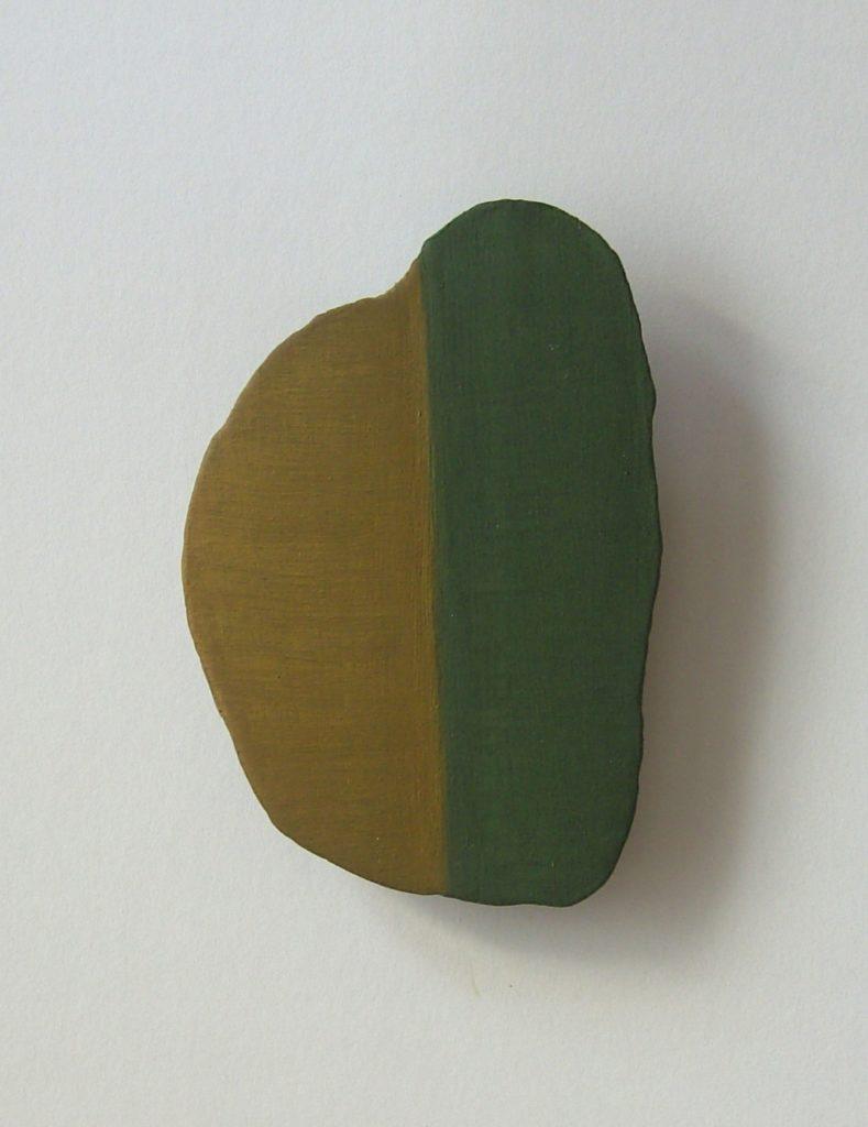 2 - 2018. Tempera auf Holz, 10 x 7 cm, 2018